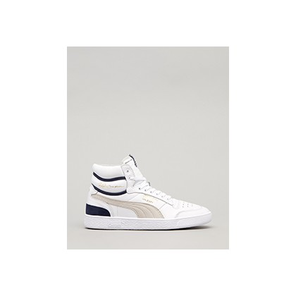 "Ralph Sampson Mid OG Shoes in ""Puma White-Grey/Viol/Pea""  by Puma"