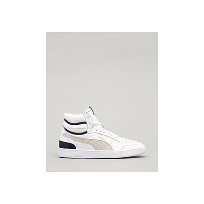 Ralph Sampson Mid OG Shoes in Puma White-Grey/Viol/Pea by Puma