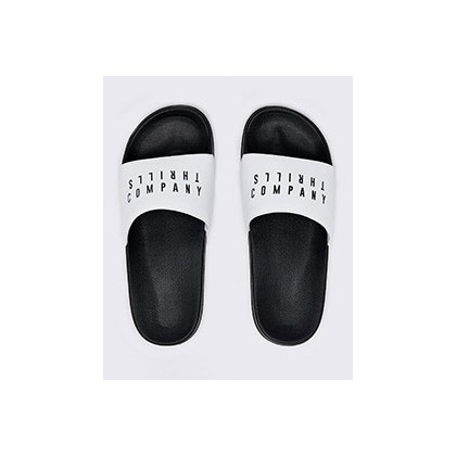 Co Slides in White/Black by Thrills