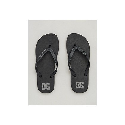 "Spray Thongs in ""Black/Dk Grey""  by DC Shoes"