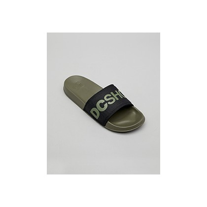 "Dc Slides in ""Olive/Black""  by DC Shoes"