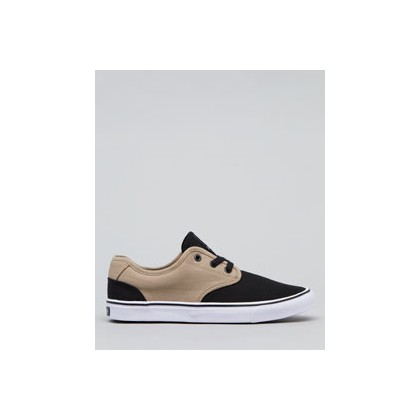Geomet Two Tone Shoes in Black/Tan by Lucid