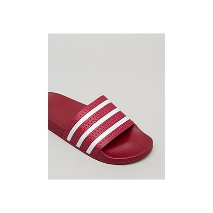 "Adilette Slides in ""Collegiate Burgundy/Ftwrw""  by Adidas"