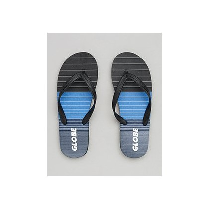 Aggro Thongs in Black/Blue/Grey by Globe