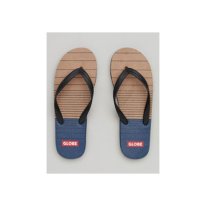 "Indy Thongs in ""Tan/Navy""  by Globe"