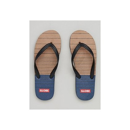 Indy Thongs in Tan/Navy by Globe