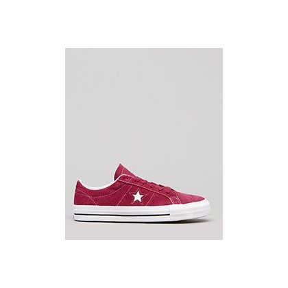 Women's One Star Pro Classic Shoes in Rhubarb/Black/White by Converse