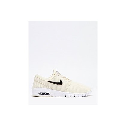 Womens Stefan Janoski Max Shoes in Cream/White by Nike