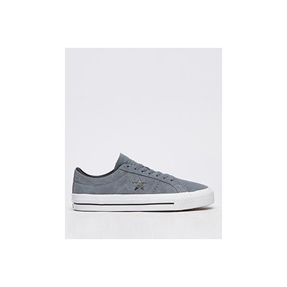 Womens One Star Pro Lo-Top Shoes in Coolgrey/Black/White by Converse