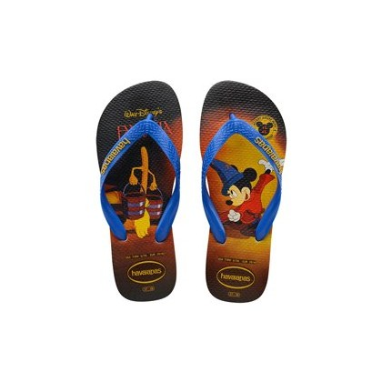 Disney Mickey Mouse 90th Anniversary Thongs in Black/Blue by Havaianas