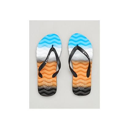 "Highland Thongs in ""Black/Orange/Blue""  by Skylark"
