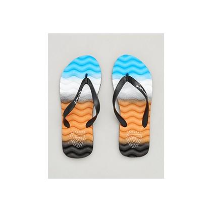 "Highland Thongs in ""Black/Orange/Blue""  by Skylark"
