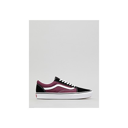 "Comfycush Old Skool Shoes in ""(Sport)Black/Prune/True W""  by Vans"