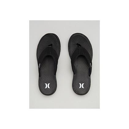 "Flex 2.0 Sandal in ""Black/White-Dk Grey""  by Hurley"