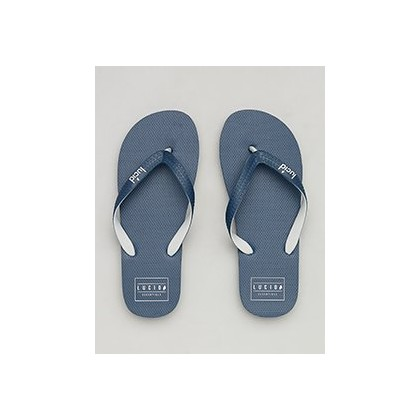 Carrier Thongs in Navy/Grey by Lucid