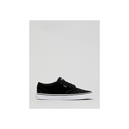 "Atwood Suede Emboss Shoes in ""(Suede Emboss)Black/White""  by Vans"