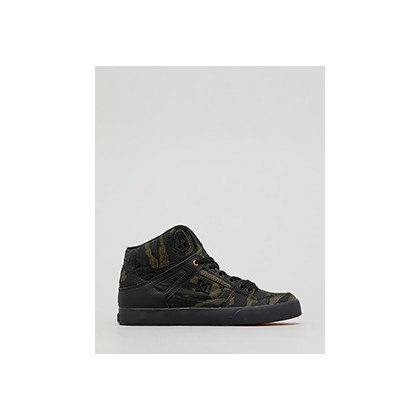 "Pure Hi Top Wc Tx Se in ""Camo/Russet Orange""  by DC Shoes"
