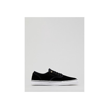 "Wino Standard Shoes in ""Black/White/Gold""  by Emerica"