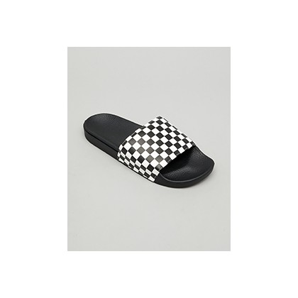 "Mn Slide On Check Slides in ""Checkerboard White""  by Vans"