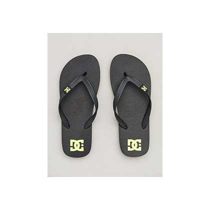 "Spray Thongs in ""Black/Bright Yellow""  by DC Shoes"