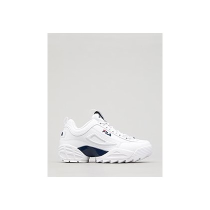 Disruptor II Lab Shoes in White/Navy/Red by Fila