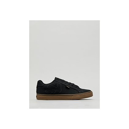 Fader Vulc Shoes in Black/Black/Gum by Etnies