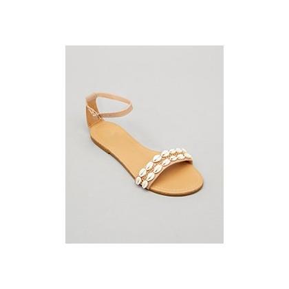 Gili Sandals in Tan/Cream by Mooloola