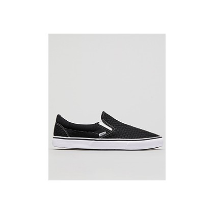 "Weavel Slip-On Shoes in ""Black/White Stitch""  by Jacks"
