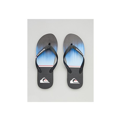 "Molokai Division Thongs in ""Black/Blue/Black""  by Quiksilver"
