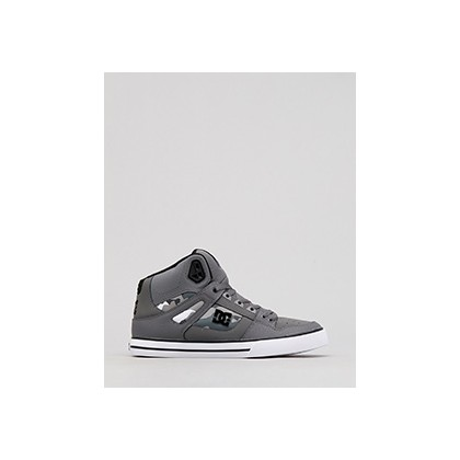 "Pure High Top Shoes in ""Gun Metal/White""  by Dc Shoes Australia Pty Ltd"