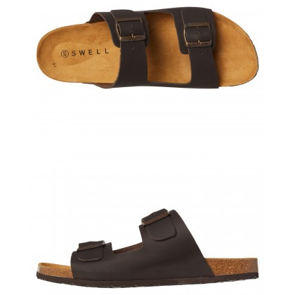 Santos Mens Leather Sandal Chocolate By SWELL