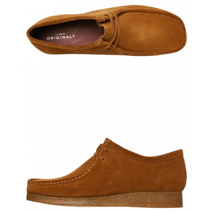 Mens Wallabee Cola Suede