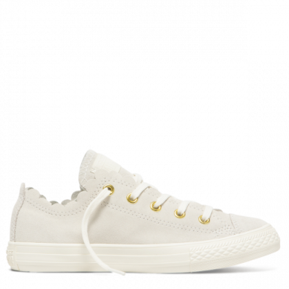 Chuck Taylor All Star Junior Frilly Thrills Low Top Egret
