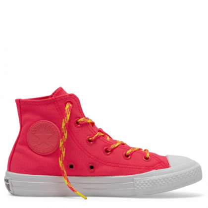 Chuck Taylor All Star Glow Up Junior High Top Racer Pink