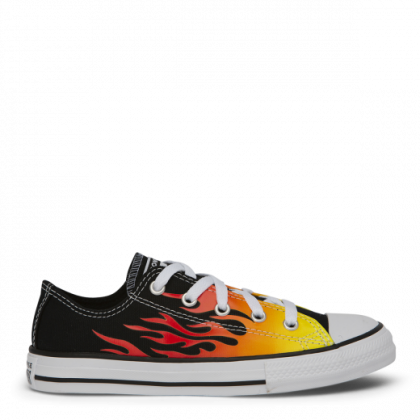 Chuck Taylor All Star Archive Flames Junior Low Top Black