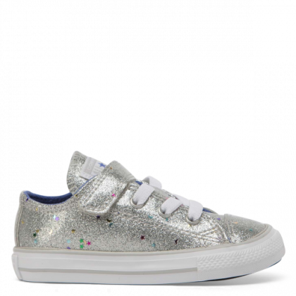 Chuck Taylor All Star Galaxy Glimmer 1V Toddler Low Top Silver