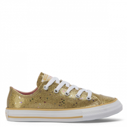Chuck Taylor All Star Galaxy Glimmer Junior Low Top Gold