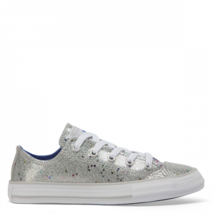 Chuck Taylor All Star Galaxy Glimmer Junior Low Top Silver