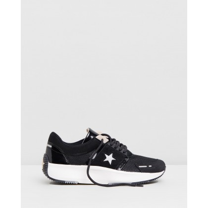 Run Star The Rundown Low Top Ox - Women's Black, Almost Black & Particle Beige by Converse