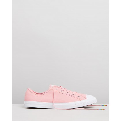 Chuck Taylor All Star Dainty Rainbow - Women's Coastal Pink, Yellow & White by Converse