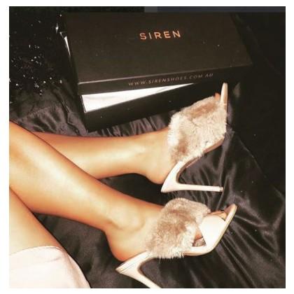 Davina - Black Faux Fur by Siren Shoes