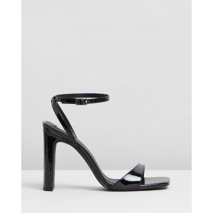 Pierce Heels Black Patent by Dazie