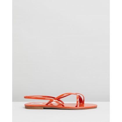 Tate Sandals Terracotta Patent by Dazie
