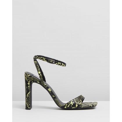 Pierce Heels Multi Colour Snakeskin by Dazie