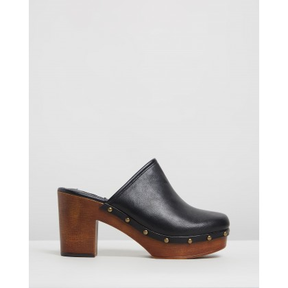 Honey Mules Black Smooth by Dazie