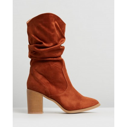 Malta Boots Tan Microsuede by Dazie