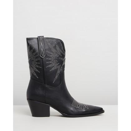 Kosmin Boots Black Smooth by Dazie