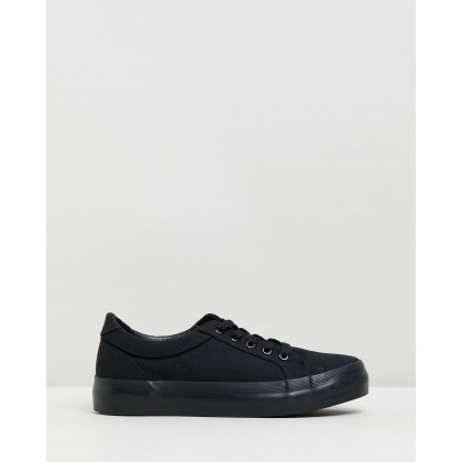 Posy Sneakers Black Canvas by Dazie