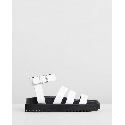 Drew Sandals White Box Smooth by Dazie
