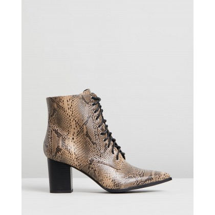 Ramata Ankle Boots Snakeskin by Dazie